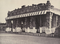 West front of the Puthu Mandapum. [Pudu Mandapa, Minakshi Sundareshvara Temple, Madurai]
